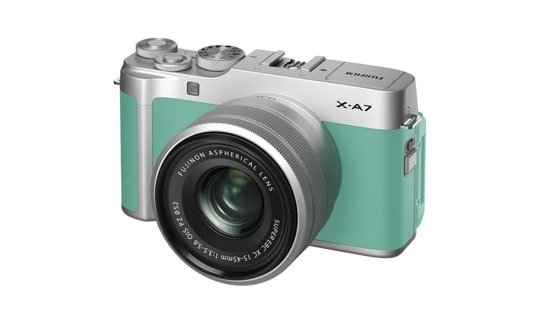 Fujifilm X-A7 Mirrorless Camera with 15-45mm Lens - Mint Green_01