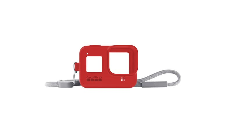 GoPro AJSST-008 Silicone Sleeve and Lanyard Kit for HERO8 - Red_01