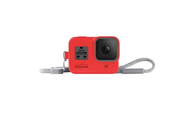 GoPro AJSST-008 Silicone Sleeve and Lanyard Kit for HERO8 - Red_02