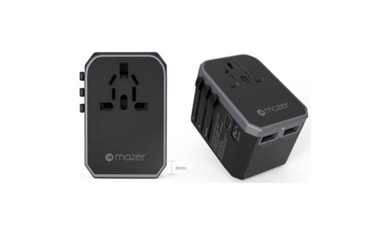 Mazer M-EGTRAVEL160PD Travel Charger Adapter - Grey-01