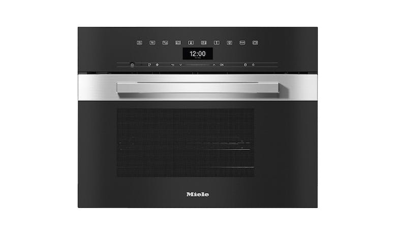 Miele DGM 7440 Built-In Steam Microwave Oven - Clean Steel-01
