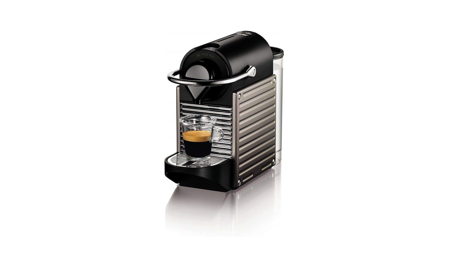 Nespresso Pixie C61-SG-TI-NE Capsules Coffee Machine - Titan ...
