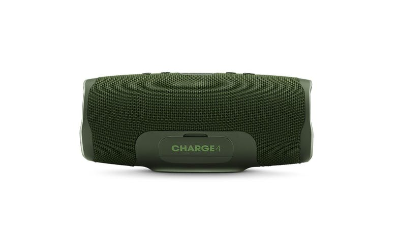 JBL Charge 4 Portable Bluetooth Speaker - Green (Rear)
