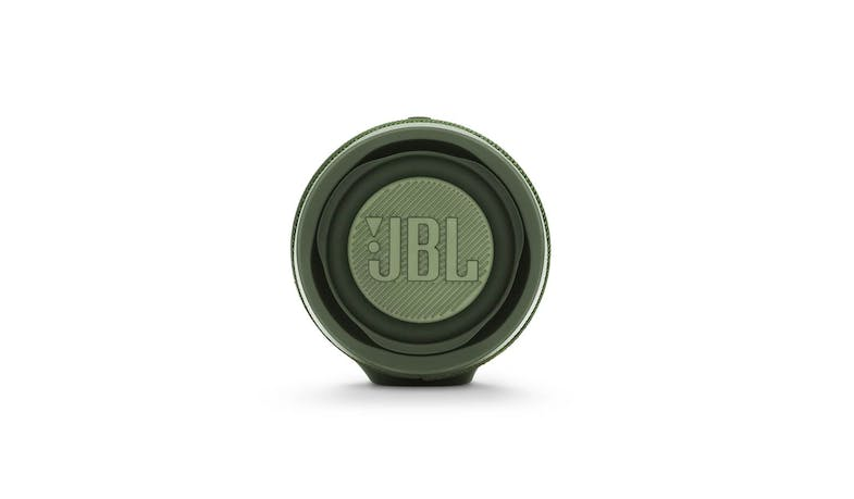 JBL Charge 4 Portable Bluetooth Speaker - Green (Side)