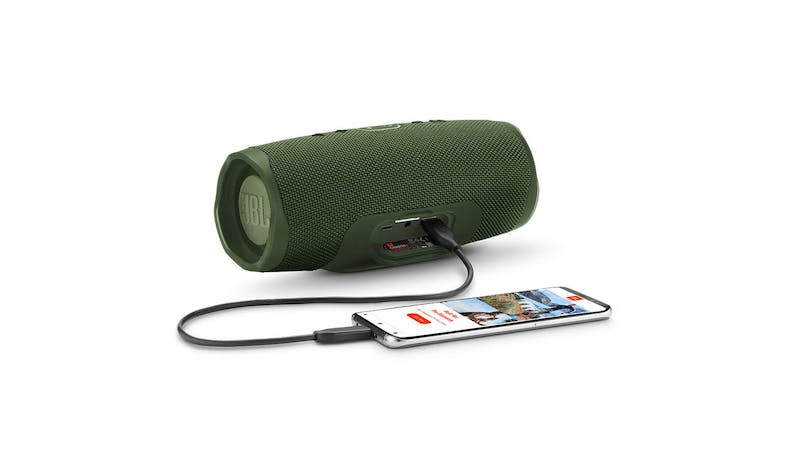 JBL Charge 4 Portable Bluetooth Speaker - Green (Port)