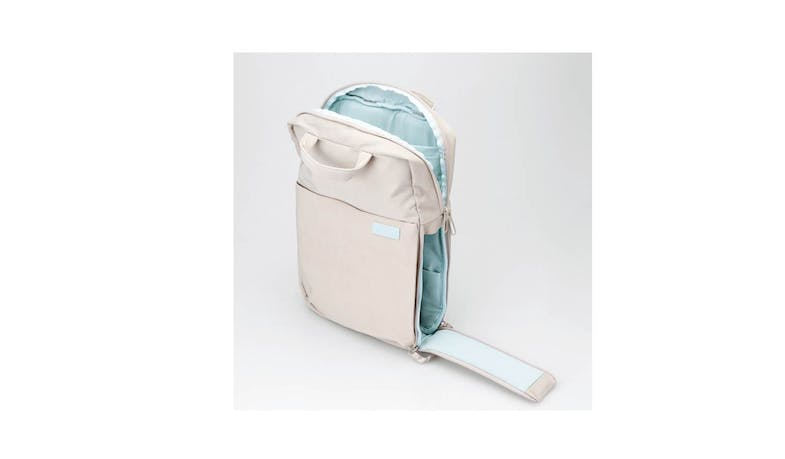 Elecom BM-OF04BE off toco Backpack - Sand Beige (Side Pocket)
