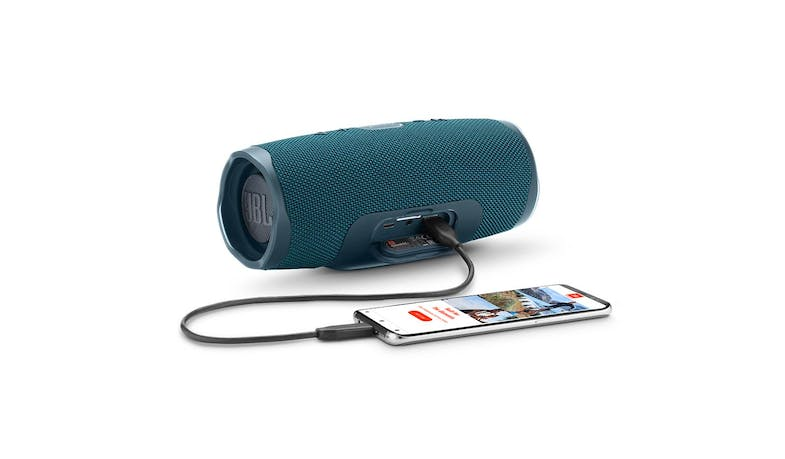 JBL Charge 4 Portable Bluetooth Speaker - Blue (Port)