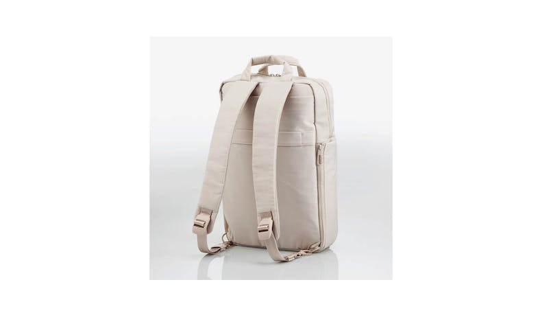 Elecom BM-OF04BE off toco Backpack - Sand Beige (Rear)