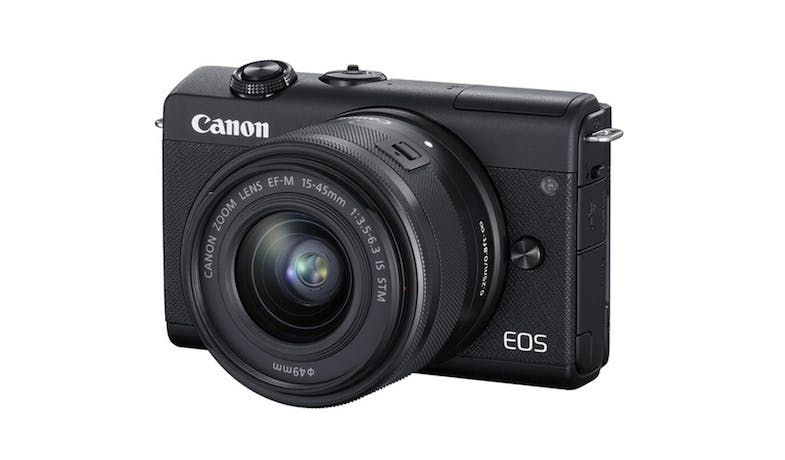 Canon EOS M200 Mirrorless Digital Camera with 15-45mm Lens - Black_01