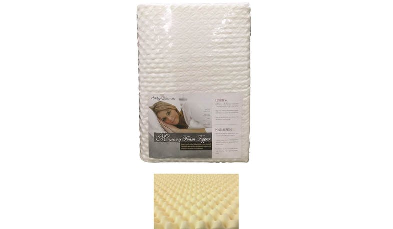 Ashley Summers Memory Foam Mattress Topper - Super Single Size