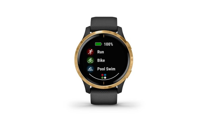 Garmin Venu (GM-010-02173-39) Smartwatch - Black/Gold (Front)