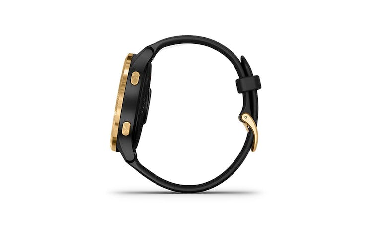 Garmin Venu (GM-010-02173-39) Smartwatch - Black/Gold (Side)