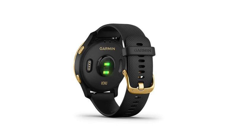 Garmin Venu (GM-010-02173-39) Smartwatch - Black/Gold (Back)