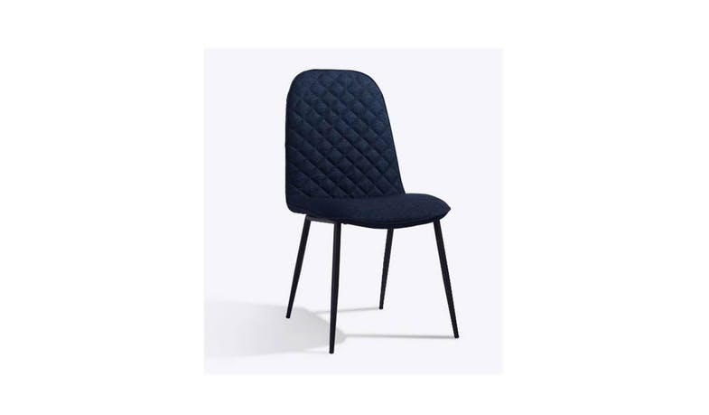 Botega Full Fabric Dining Chair - Blue