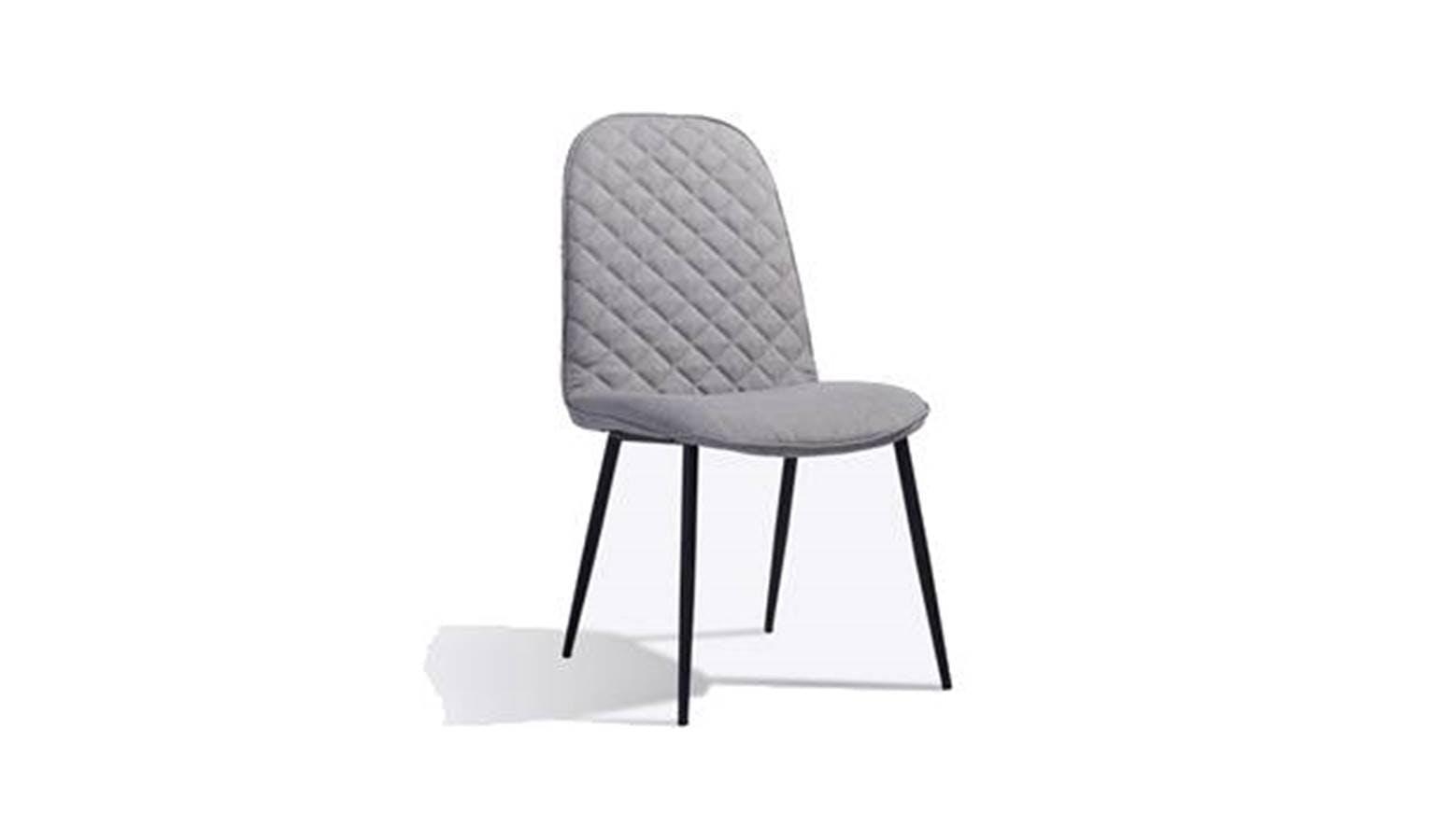 Botega Full Fabric Dining Chair Grey