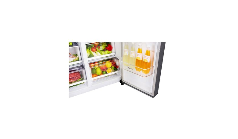 LG GS-L6013PZ (Net 601L) Side-By-Side Refrigerator (Zoom 1)