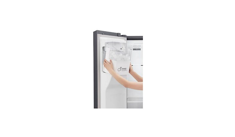 LG GS-L6013PZ (Net 601L) Side-By-Side Refrigerator (Zoom 2)