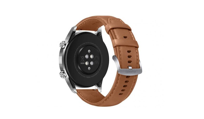 Huawei Watch 55024337 GT2 46mm Leather Strap - Pebble Brown (Back)