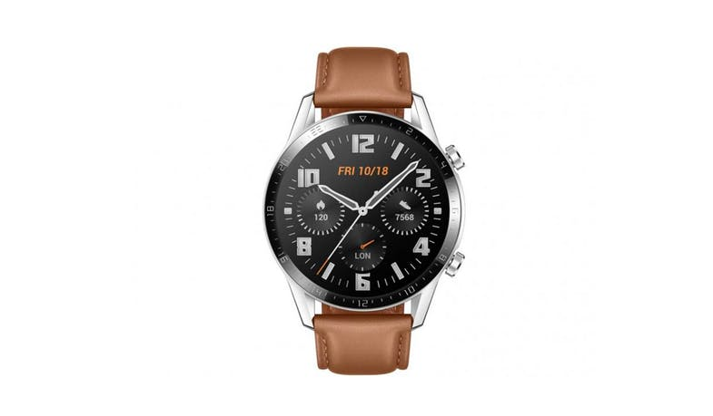 Huawei Watch 55024337 GT2 46mm Leather Strap - Pebble Brown (Front)