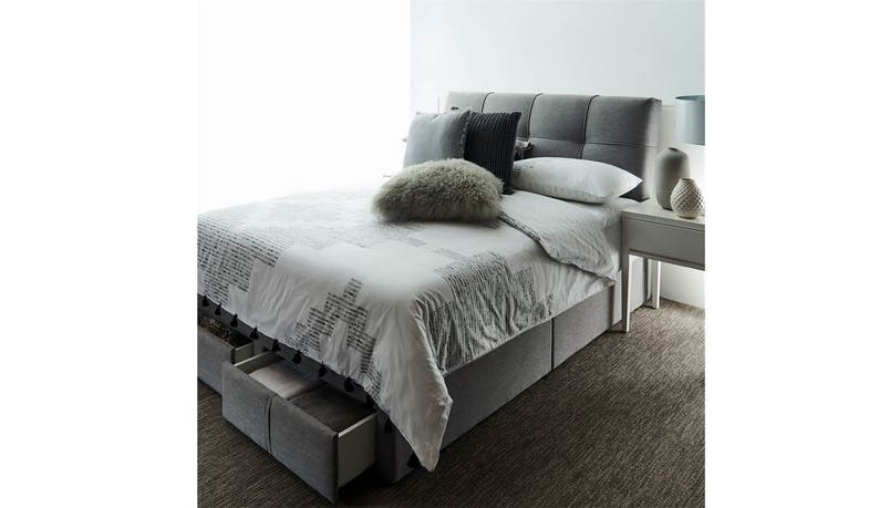 Iceland Bed Frame in Fabric Upholstery - Queen Size