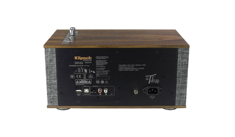 Klipsch The Three II Wireless Shelf Stereo - Walnut (Back)