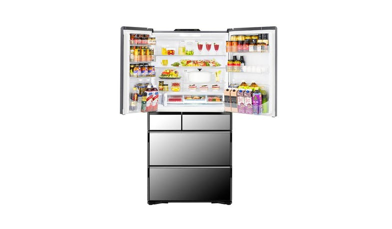 Hitachi K Series R-WXC740KS-XK 572L Multi-door Fridge - Crystal Black (Inner)*