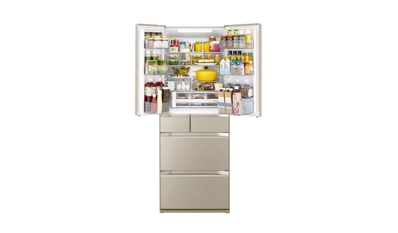 Hitachi K Series R-KWC570KS-XH 437L Multi-door Fridge - Crystal White (Inner)*