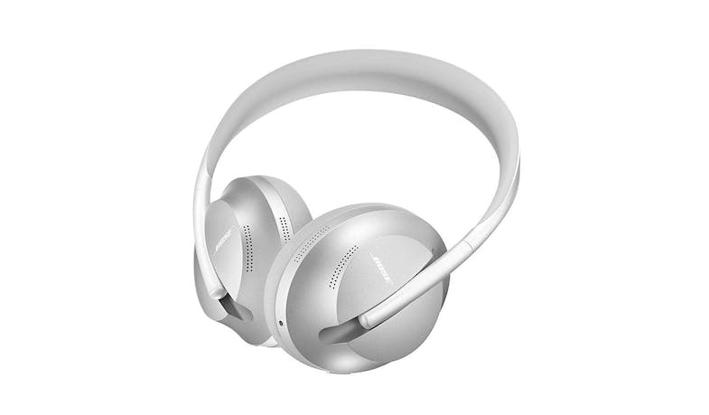 Bose Headphones 700 Noise-Canceling Wireless Headphones - Luxe Silver (Bottom Angled)