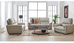 Luke Full Leather 2-Seater Sofa