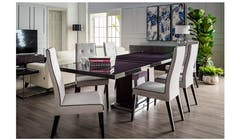 Monte Carlo Italian High Gloss Extendable Dining Table