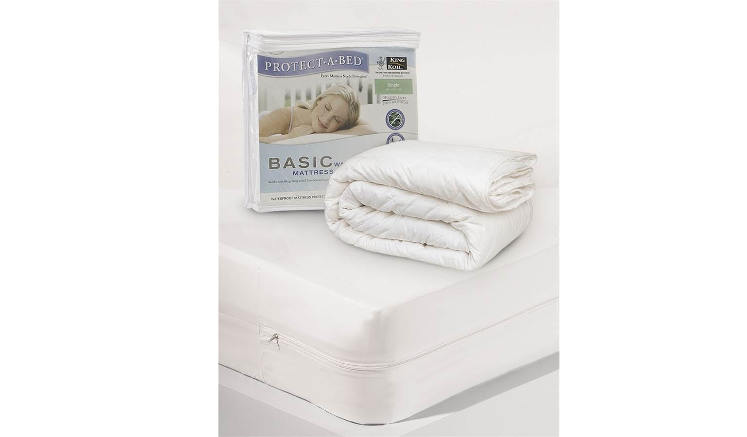 King Koil Protect-a-bed Basic Mattress Protector - Queen ...