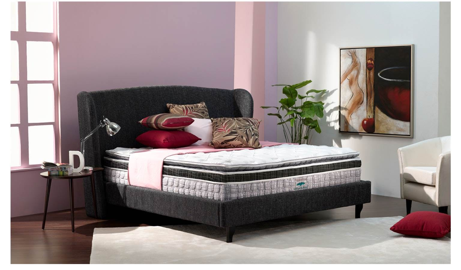 Windle Upholstered Fabric Bed Frame