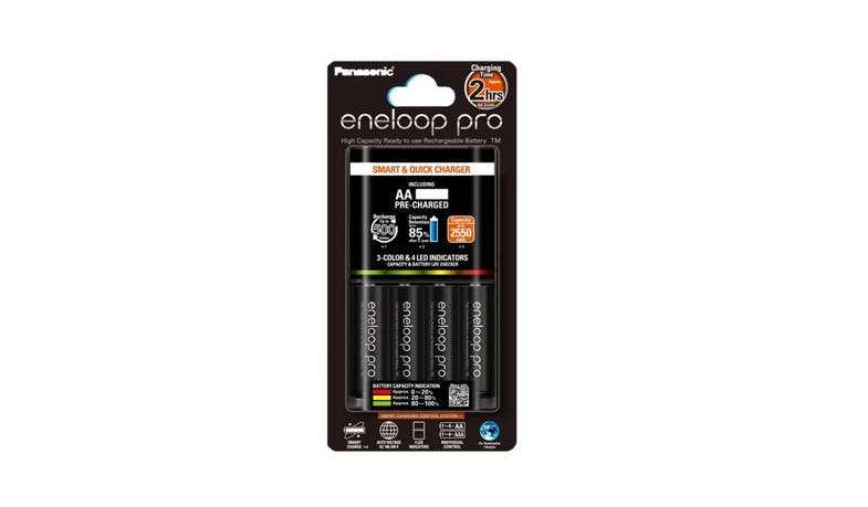 Panasonic Eneloop K-KJ55HC40T2 Charger Kit with AA Pro Batteries