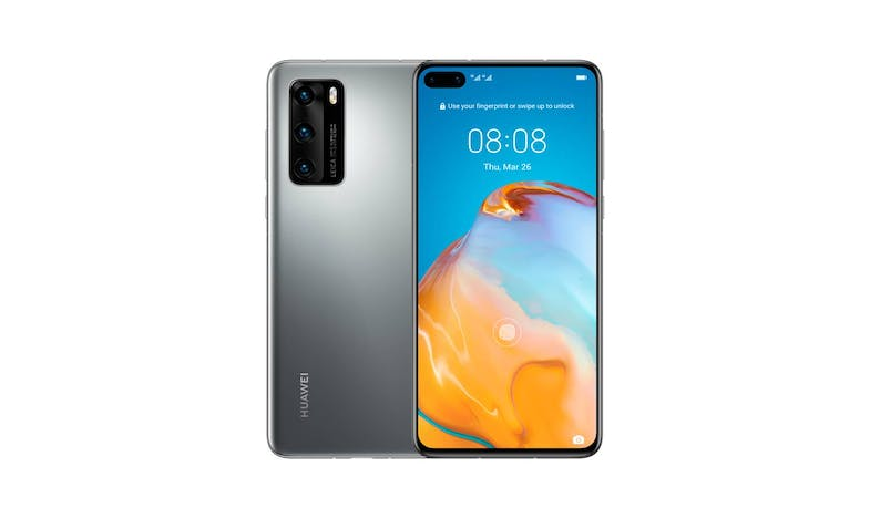 Huawei P40 Smartphone (Silver Frost) - Main