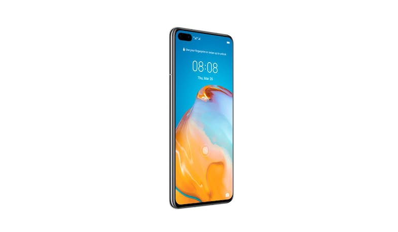 Huawei P40 Smartphone (Silver Frost) - Alt Angle