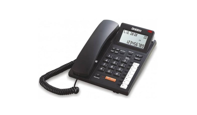 Uniden AS7411 CID Display Corded Phone - Black