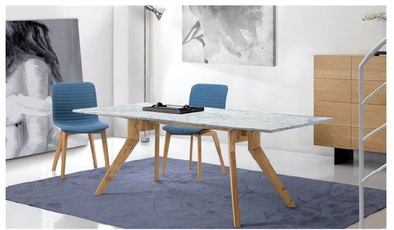 Delta Italian Marble Dining Table - 180cm Width