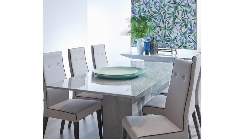 Elba Italian Carrara Marble Dining Table