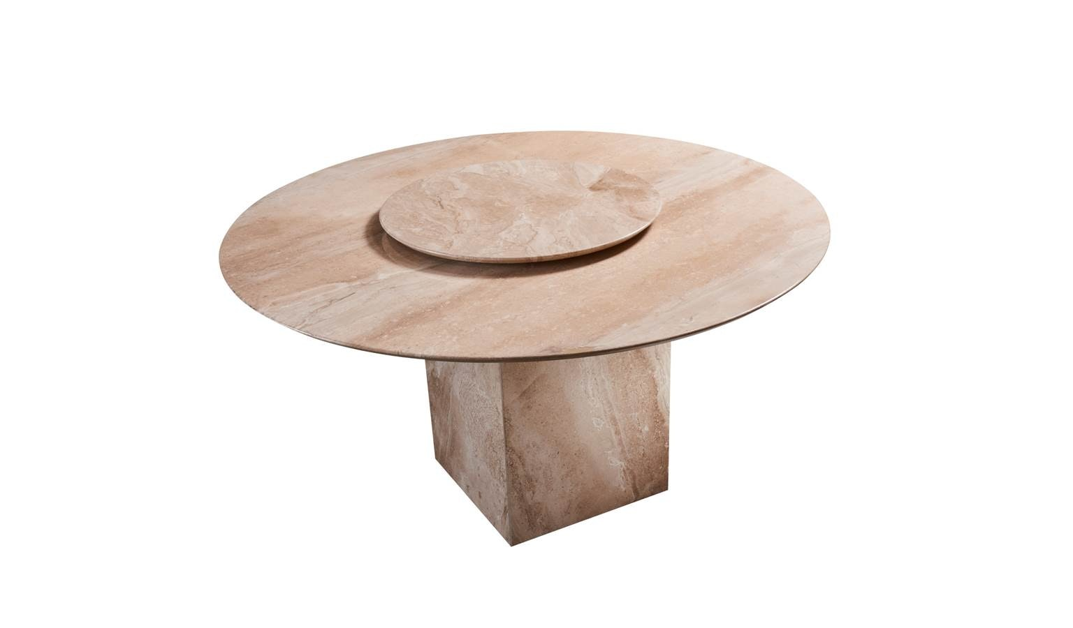 Lucca Italian Round Marble Dining Table With Lazy Susan Harvey Norman Singapore