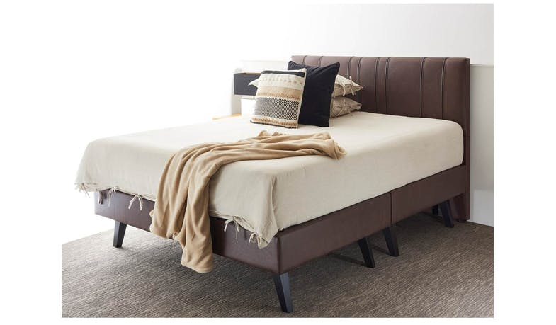 MO1 Bed Frame in Fabric Upholstery - Queen Size