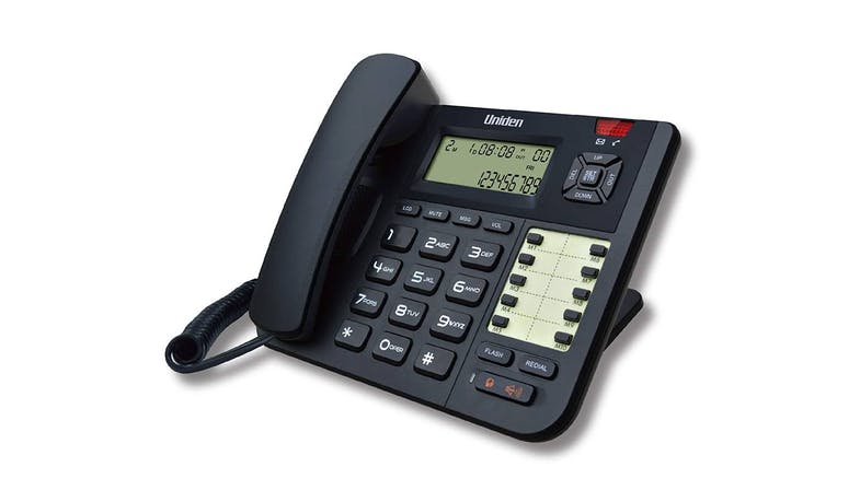 Uniden AS8401 Corded Home Phone - Black