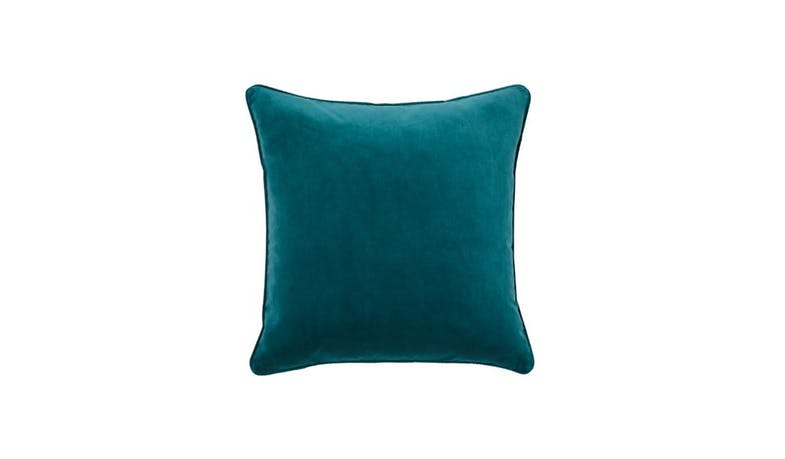 Zoe Plain Velvet Cushion - Mallard