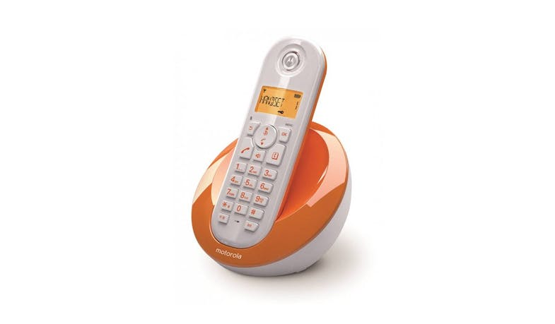 Motorola C601 Single Dect Phone - Orange