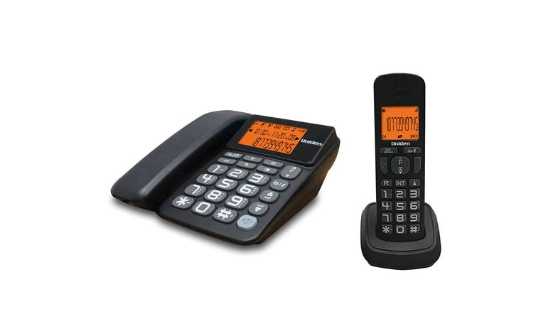 Uniden AT4503 Corded & Cordless Combo Phone - Black