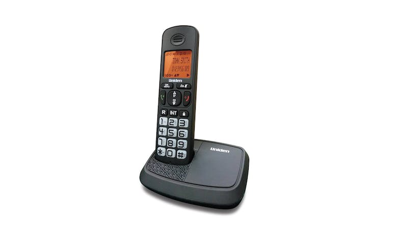 Uniden AT4103 DECT (1.8 Ghz) Cordless Home Phone - Black - Main