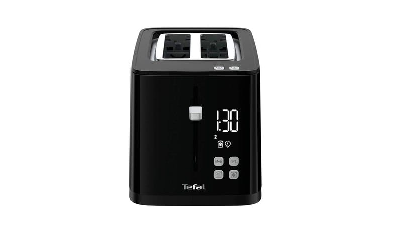 Tefal TT6408 Digital Black Toaster - Front