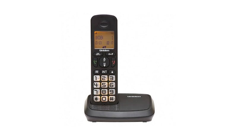 Uniden AT4103 DECT (1.8 Ghz) Cordless Home Phone - Black - Front