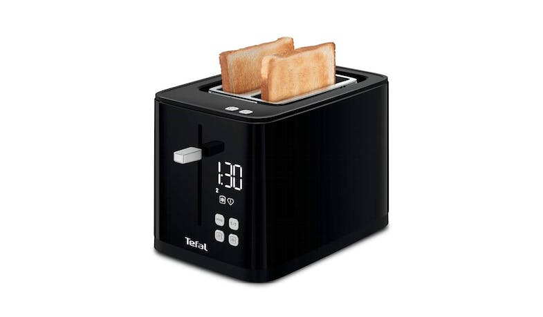 Tefal TT6408 Digital Black Toaster - illustrate