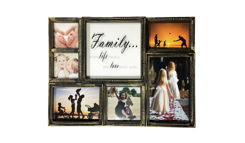 Friends SM00648 Multi Collage Photo Frame - Rustic Gold