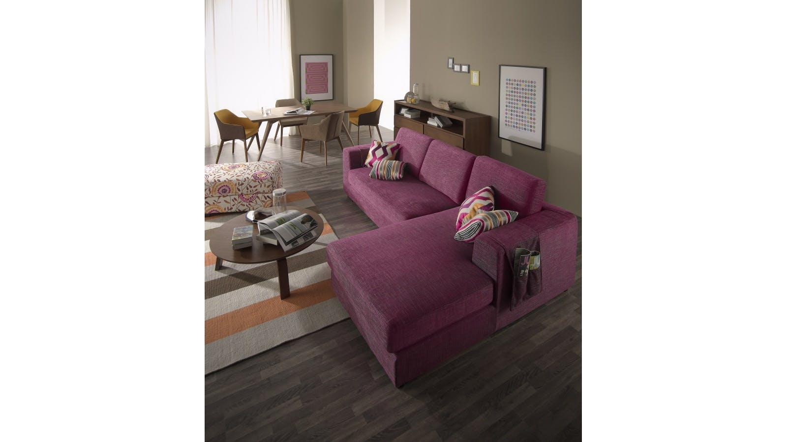 Coral 2 seater sofa with chaise lounge harvey norman for 2 seater lounge with chaise